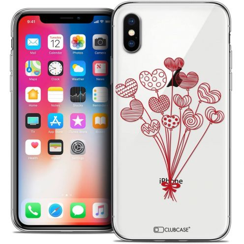 """Coque Crystal Gel Apple iPhone Xs / X (5.8"""") Extra Fine Love - Ballons d'amour"""