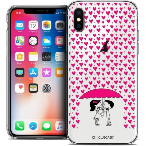 Carcasa Crystal Gel Extra Fina Apple iPhone X (10) Love Pluie d'Amour