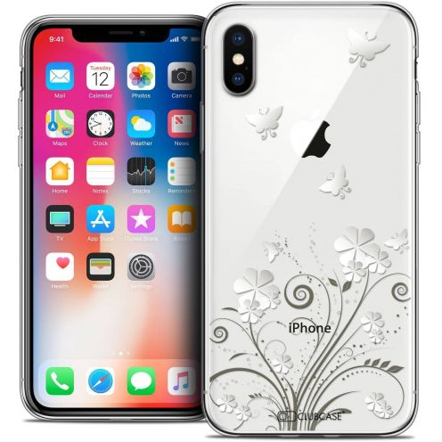 "Coque Crystal Gel Apple iPhone Xs / X (5.8"") Extra Fine Summer - Papillons"