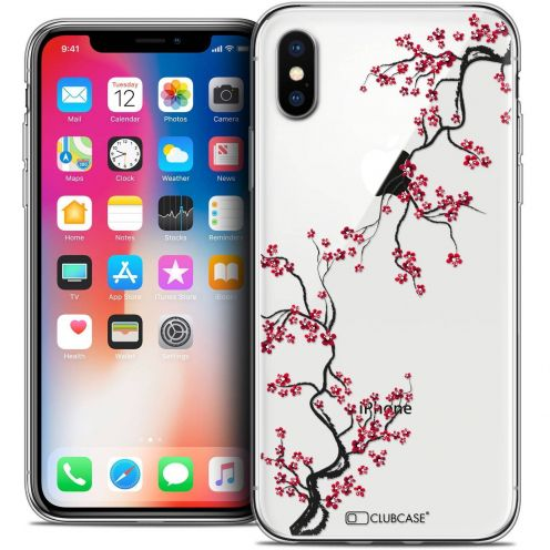 "Coque Crystal Gel Apple iPhone Xs / X (5.8"") Extra Fine Summer - Sakura"