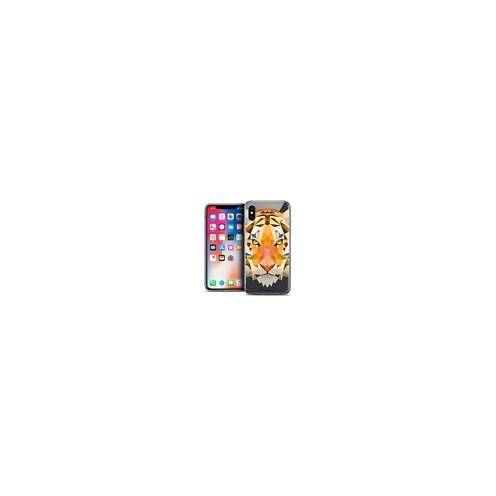 Carcasa Crystal Gel Extra Fina Apple iPhone X (10) Polygon Animals Tigre