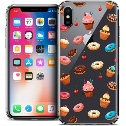 Carcasa Crystal Gel Extra Fina Apple iPhone X (10) Foodie Donuts