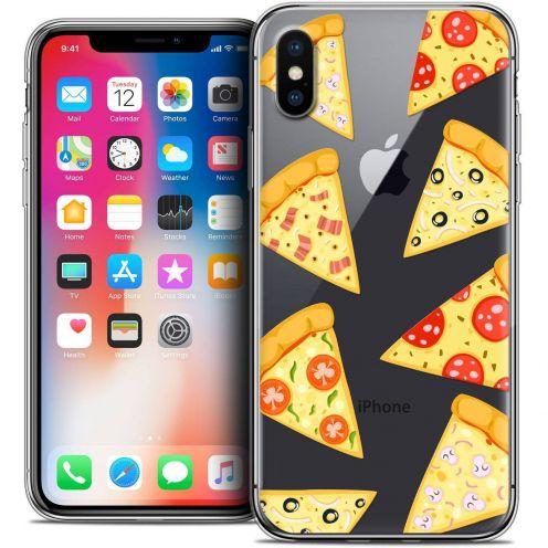 Carcasa Crystal Gel Extra Fina Apple iPhone X (10) Foodie Pizza