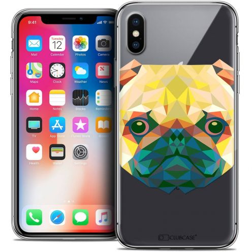 Carcasa Crystal Gel Extra Fina Apple iPhone X (10) Polygon Animals Perro
