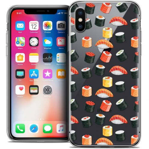 "Coque Crystal Gel Apple iPhone Xs / X (5.8"") Extra Fine Foodie - Sushi"
