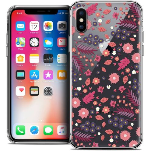Carcasa Crystal Gel Extra Fina Apple iPhone X (10) Spring Printemps