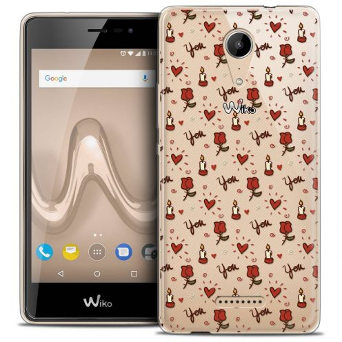 """Coque Crystal Gel Wiko Tommy 2 (5"""") Extra Fine Love - Bougies et Roses"""