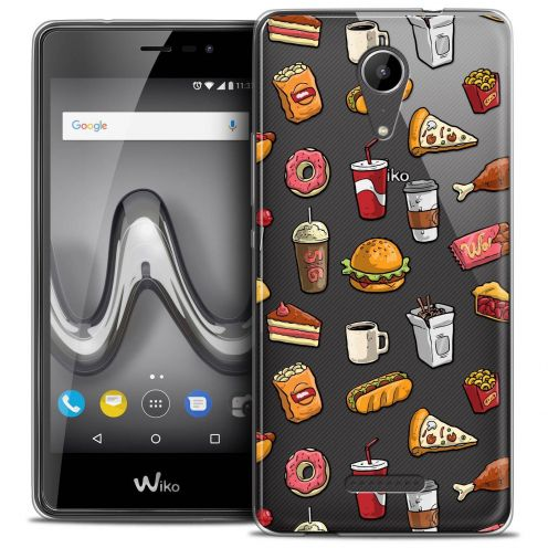 """Coque Crystal Gel Wiko Tommy 2 (5"""") Extra Fine Foodie - Fast Food"""