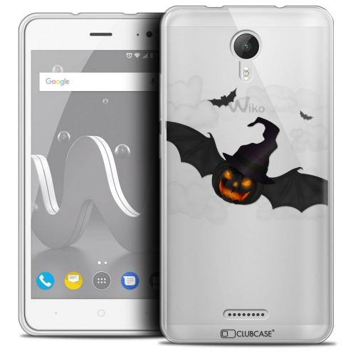 """Coque Crystal Gel Wiko Jerry 2 (5"""") Extra Fine Halloween - Chauve Citrouille"""