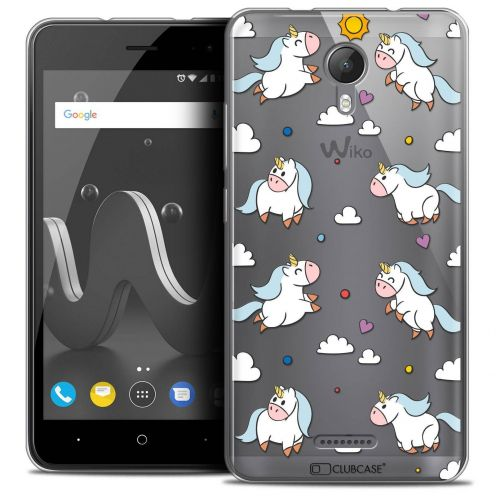 "Coque Crystal Gel Wiko Jerry 2 (5"") Extra Fine Fantasia - Licorne In the Sky"