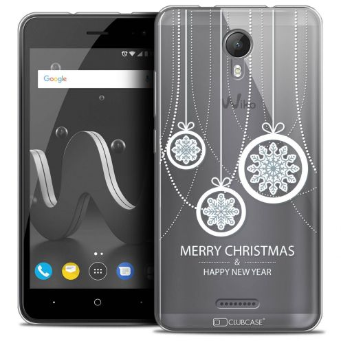 """Coque Crystal Gel Wiko Jerry 2 (5"""") Extra Fine Noël 2017 - Christmas Balls"""
