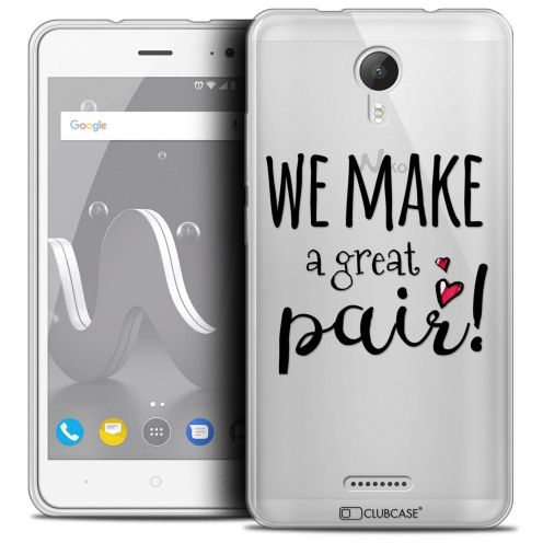 """Coque Crystal Gel Wiko Jerry 2 (5"""") Extra Fine Love - We Make Great Pair"""