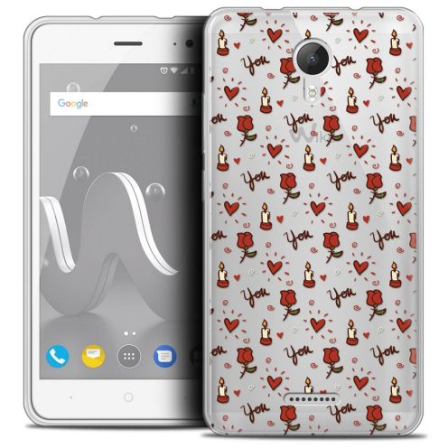 """Coque Crystal Gel Wiko Jerry 2 (5"""") Extra Fine Love - Bougies et Roses"""