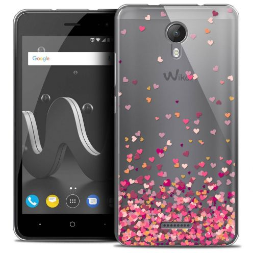 """Coque Crystal Gel Wiko Jerry 2 (5"""") Extra Fine Sweetie - Heart Flakes"""