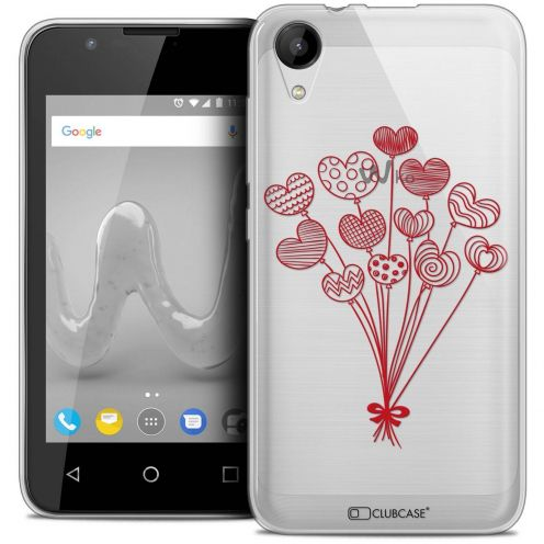 """Coque Wiko Sunny 2 Crystal Gel (4"""") Extra Fine Love - Ballons d'amour"""