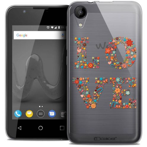 """Coque Wiko Sunny 2 Crystal Gel (4"""") Extra Fine Summer - Love Flowers"""