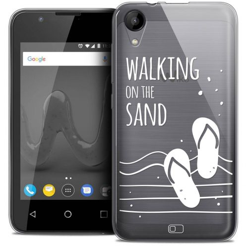 """Coque Wiko Sunny 2 Crystal Gel (4"""") Extra Fine Summer - Walking on the Sand"""