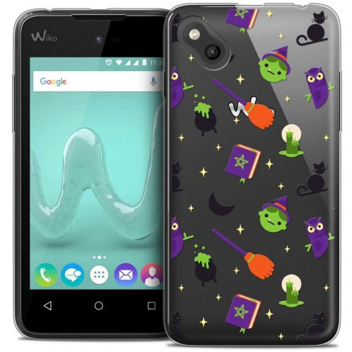 "Coque Wiko Sunny Crystal Gel (4"") Extra Fine Halloween - Witch Potter"