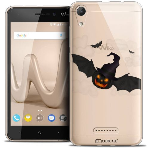 "Carcasa Crystal Gel Extra Fina Wiko Lenny 4 (5"") Halloween Chauve Citrouille"