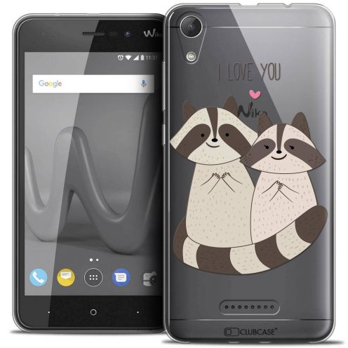 """Coque Crystal Gel Wiko Lenny 4 (5"""") Extra Fine Sweetie - Racoon Love"""