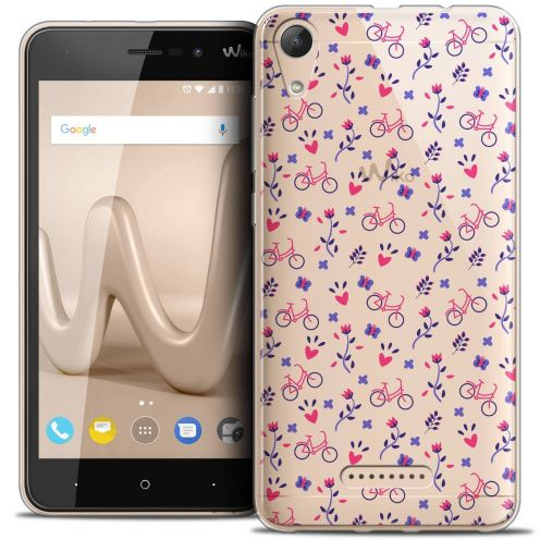 """Coque Crystal Gel Wiko Lenny 4 (5"""") Extra Fine Love - Bicycle"""