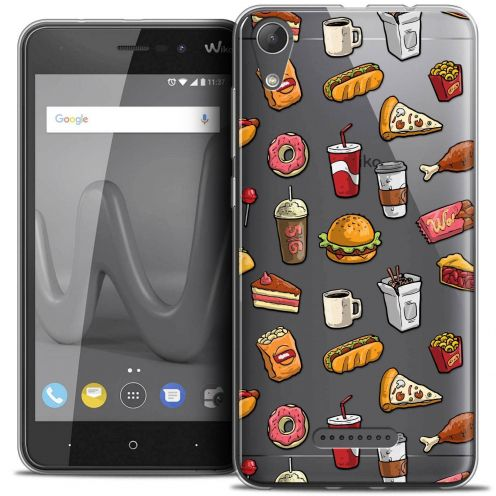 """Coque Crystal Gel Wiko Lenny 4 (5"""") Extra Fine Foodie - Fast Food"""