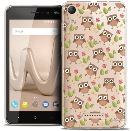 """Coque Crystal Gel Wiko Lenny 4 (5"""") Extra Fine Summer - Hibou"""