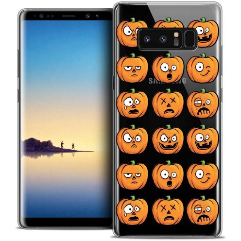 "Coque Crystal Gel Samsung Galaxy Note 8 (6.3"") Extra Fine Halloween - Cartoon Citrouille"