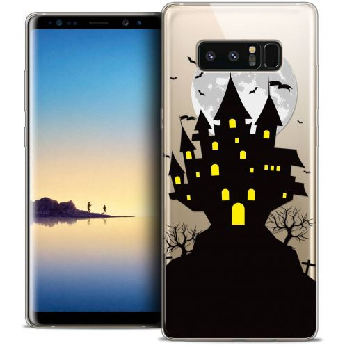 "Coque Crystal Gel Samsung Galaxy Note 8 (6.3"") Extra Fine Halloween - Castle Scream"