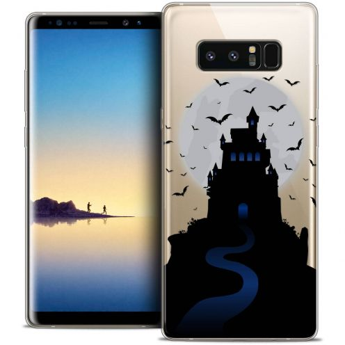 "Coque Crystal Gel Samsung Galaxy Note 8 (6.3"") Extra Fine Halloween - Castle Nightmare"