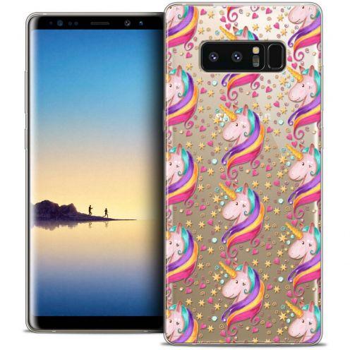 "Coque Crystal Gel Samsung Galaxy Note 8 (6.3"") Extra Fine Fantasia - Licorne Etoilée"