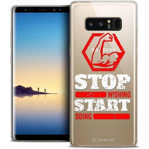 """Carcasa Crystal Gel Extra Fina Samsung Galaxy Note 8 (6.3"""") Quote Start Doing"""