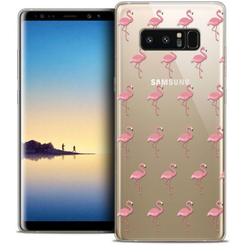 """Carcasa Crystal Gel Extra Fina Samsung Galaxy Note 8 (6.3"""") Pattern Les flamants Roses"""