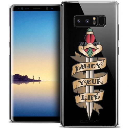 "Coque Crystal Gel Samsung Galaxy Note 8 (6.3"") Extra Fine Tatoo Lover - Enjoy Life"