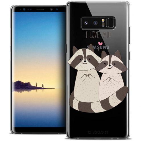 "Coque Crystal Gel Samsung Galaxy Note 8 (6.3"") Extra Fine Sweetie - Racoon Love"