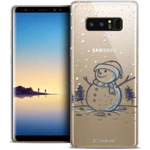 "Coque Crystal Gel Samsung Galaxy Note 8 (6.3"") Extra Fine Noël 2017 - Bonhomme de Neige"