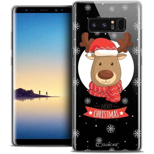 "Carcasa Crystal Gel Extra Fina Samsung Galaxy Note 8 (6.3"") Noël 2017 Cerf à Echarpe"