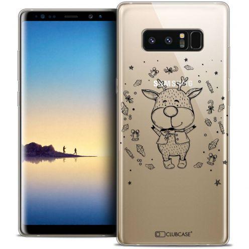 "Carcasa Crystal Gel Extra Fina Samsung Galaxy Note 8 (6.3"") Noël 2017 Sketchy Cerf"