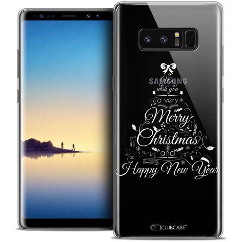 "Carcasa Crystal Gel Extra Fina Samsung Galaxy Note 8 (6.3"") Noël 2017 Calligraphie"
