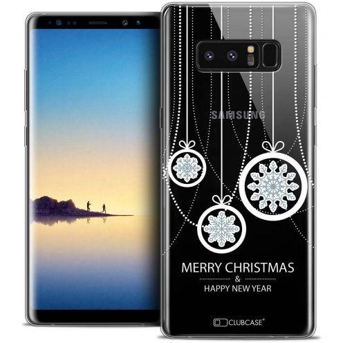"Carcasa Crystal Gel Extra Fina Samsung Galaxy Note 8 (6.3"") Noël 2017 Christmas Balls"