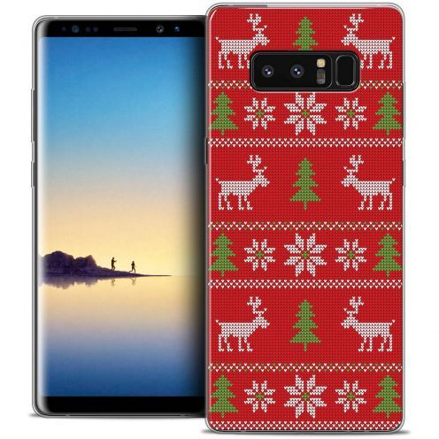 """Carcasa Crystal Gel Extra Fina Samsung Galaxy Note 8 (6.3"""") Noël 2017 Couture Rouge"""