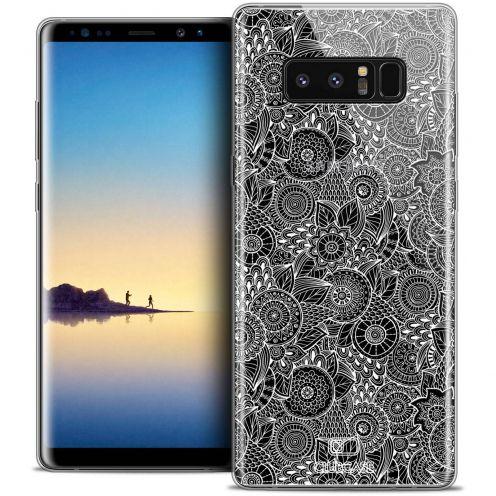 "Carcasa Crystal Gel Extra Fina Samsung Galaxy Note 8 (6.3"") Dentelle Florale Blanc"