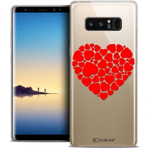 """Carcasa Crystal Gel Extra Fina Samsung Galaxy Note 8 (6.3"""") Love Coeur des Coeurs"""