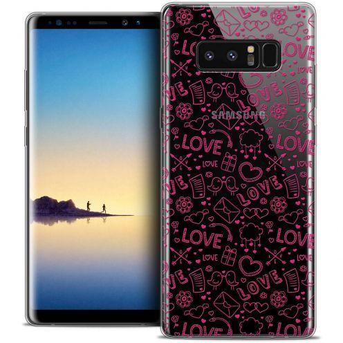 "Carcasa Crystal Gel Extra Fina Samsung Galaxy Note 8 (6.3"") Love Doodle"