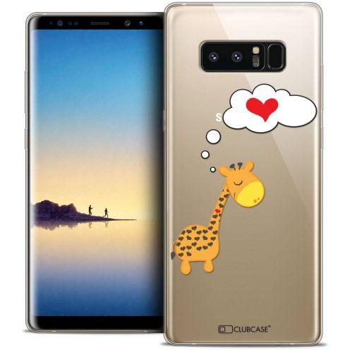 "Carcasa Crystal Gel Extra Fina Samsung Galaxy Note 8 (6.3"") Love Girafe Amoureuse"