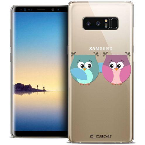 "Carcasa Crystal Gel Extra Fina Samsung Galaxy Note 8 (6.3"") Love Hibous à deux"