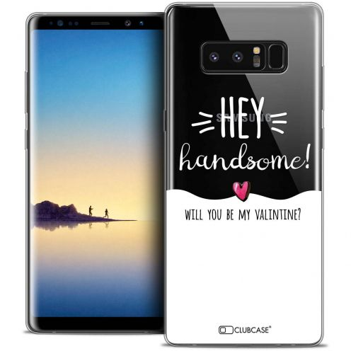 "Carcasa Crystal Gel Extra Fina Samsung Galaxy Note 8 (6.3"") Love Hey Handsome !"