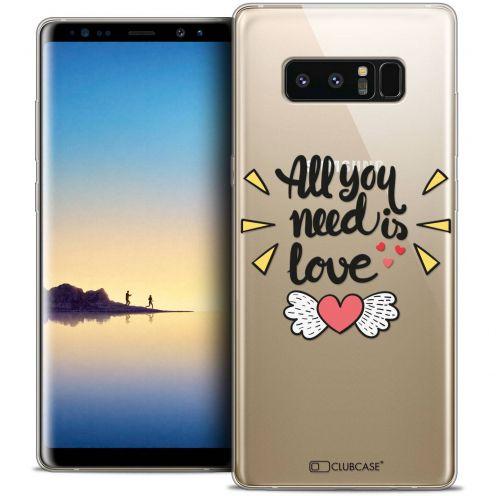 """Carcasa Crystal Gel Extra Fina Samsung Galaxy Note 8 (6.3"""") Love All U Need Is"""