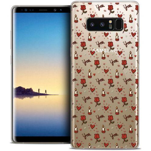 "Carcasa Crystal Gel Extra Fina Samsung Galaxy Note 8 (6.3"") Love Bougies et Roses"