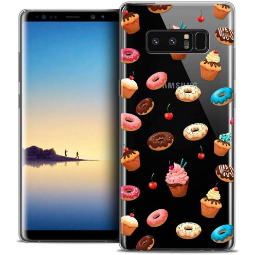 "Carcasa Crystal Gel Extra Fina Samsung Galaxy Note 8 (6.3"") Foodie Donuts"